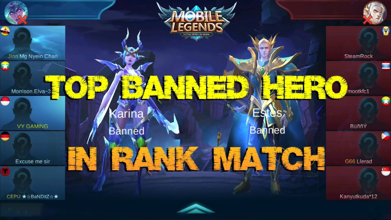 Banned Hero Mobile Legends