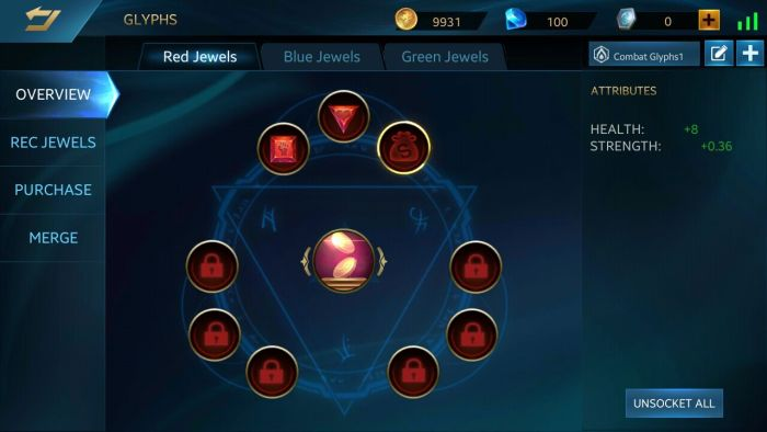 Talent- Heroes Evolved Punya Glyphs