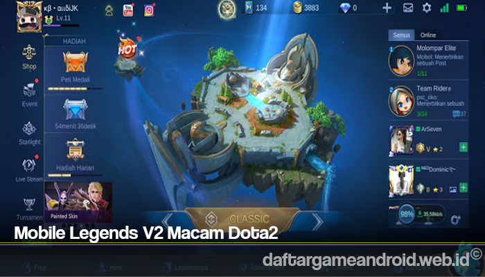 Mobile Legends V2 Macam Dota2